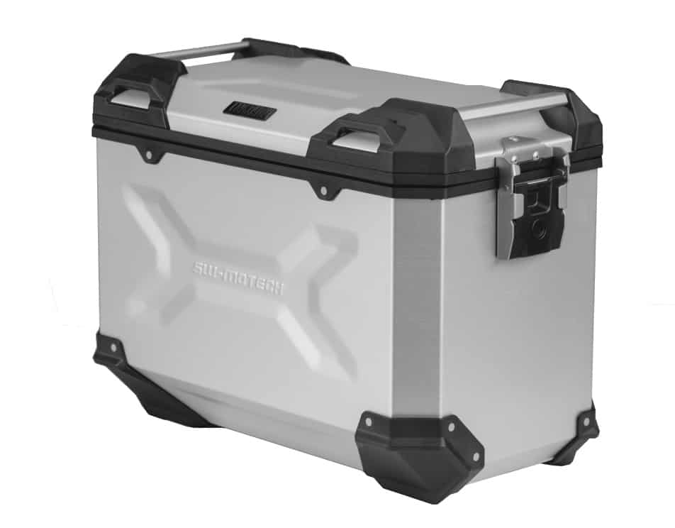 SW-MOTECH TRAX ADV 45L Left Side Case | Silver Anodized Aluminum - 45L-23873