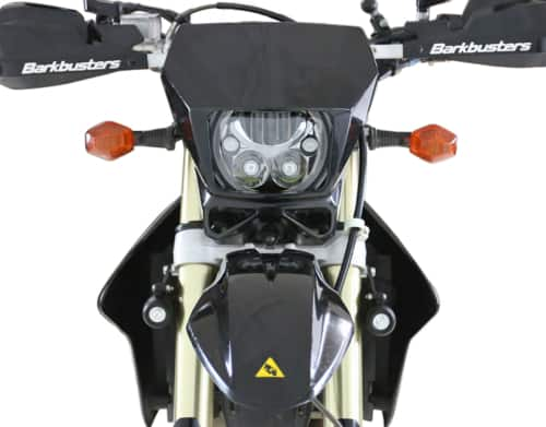 DENALI M7 Heaedlight Module Adapter Kit for Suzuki DR-Z '03-'16 Models (With DENALI M7 LED headlight installed, adapter not visible)