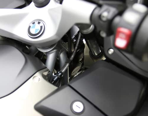 DENALI Compact Horn Mounting Bracket for BMW R1200RT (With DENALI SoundBomb mounted-sold separately)