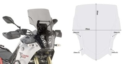 GIVI D2145 Windscreen for Yamaha Tenere 700 – Smoke