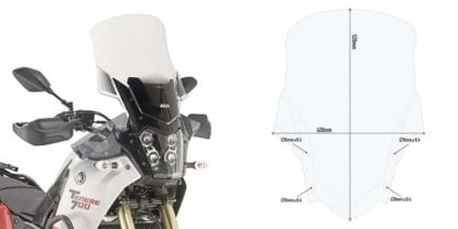 GIVI D2145 Windscreen for Yamaha Tenere 700 - Clear
