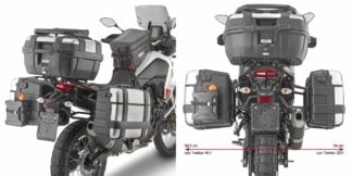 GIVI PLO2145MK ONE-FIT Side Carriers to fit Monokey Side Cases for Yamaha Tenere 700