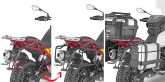 GIVI PLOR8203MK ONE-FIT Side Carriers to fit Monokey Side Cases for Moto Guzzi V85 TT
